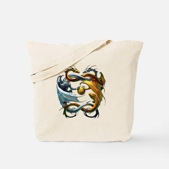 Battle Dragons Tote Bag