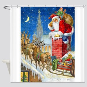 santa 2 Shower Curtain