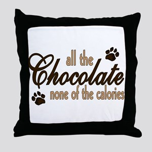 All the Chocolate Throw Pillow