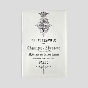 PARIS PHOTOGRAPHIE CHAMPS - ELYSEES Rectangle Magn