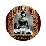 The Tattooed Lady Vintage Advertising Print Round