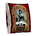 The Tattooed Lady Vintage Advertising Print Burlap