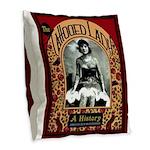 The Tattooed Lady Vintage Advertising Print Burlap