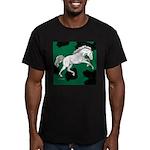 Charging Appaloosa Horse Men's Fitted T-Shirt (dar