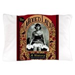 The Tattooed Lady Vintage Advertising Print Pillow