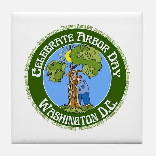 Arbor Day Washington D.C. Tile Coaster