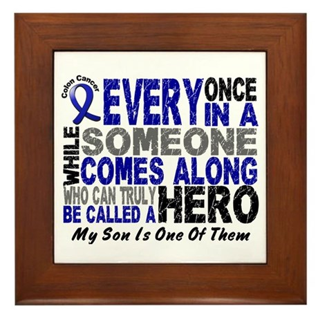 HERO Comes Along 1 Son CC Framed Tile