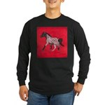 Western Stock Appaloosa Long Sleeve Dark T-Shirt