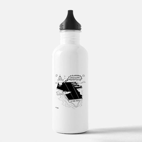 Navy Cartoon 9507 Water Bottle