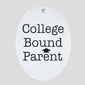 College Bound Parent Oval Ornament