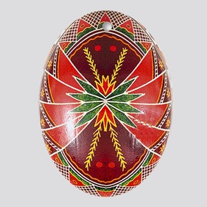 Gorgeous Jewel Tone Pysanka Ornament (oval)