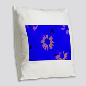 Glowing Petals Burlap Throw Pillow