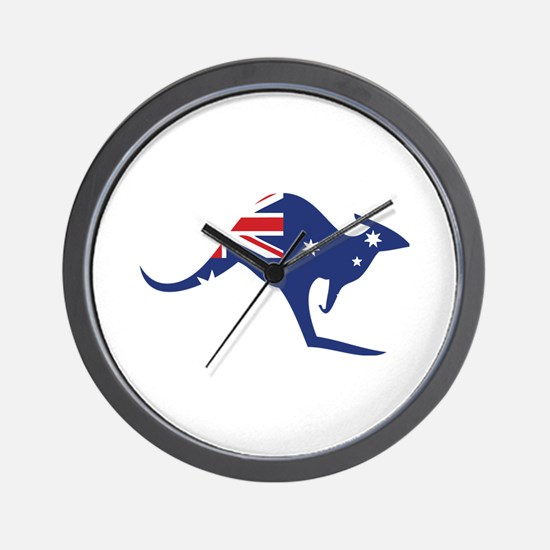 australian flag kangaroo Wall Clock