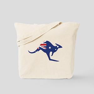 australian flag kangaroo Tote Bag