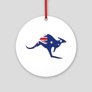 australian flag kangaroo Ornament (Round)