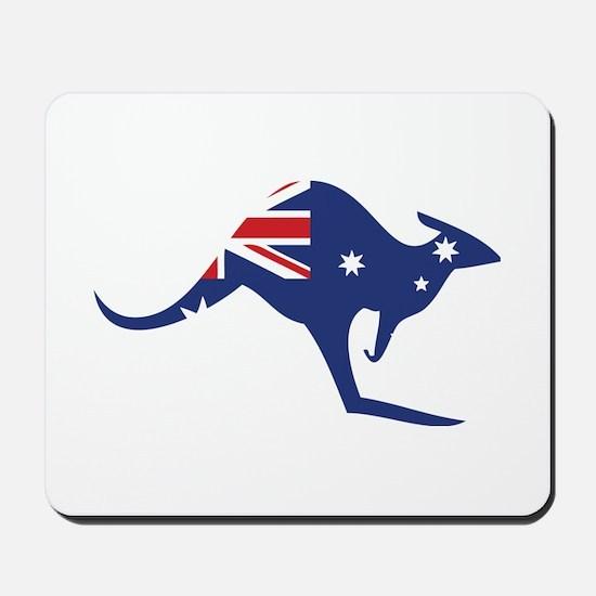 australian flag kangaroo Mousepad