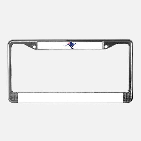 australian flag kangaroo License Plate Frame