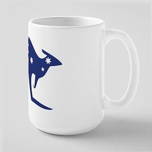australian flag kangaroo Large Mug