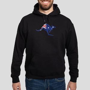 australian flag kangaroo Hoodie (dark)