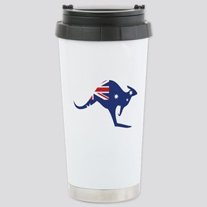 australian flag kangaroo Stainless Steel Travel Mu