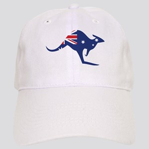 australian flag kangaroo Cap