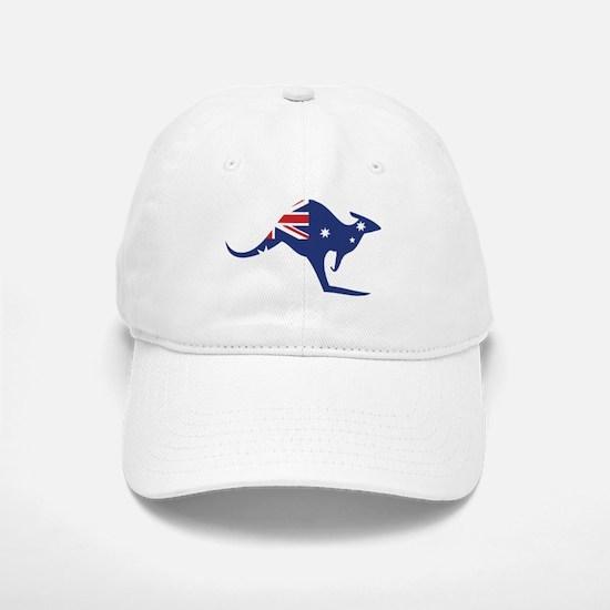 australian flag kangaroo Baseball Baseball Cap
