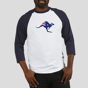 australian flag kangaroo Baseball Jersey