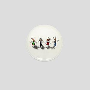 Greek Dancing Reindeer Mini Button