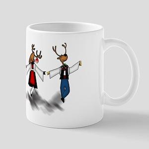Greek Dancing Reindeer Mug