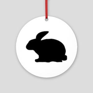black rabbit icon Ornament (Round)