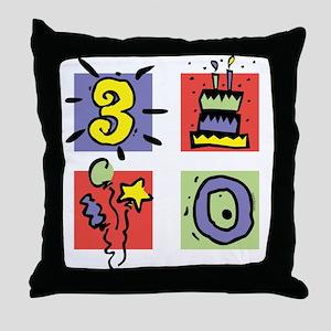 Color Block 30 Throw Pillow