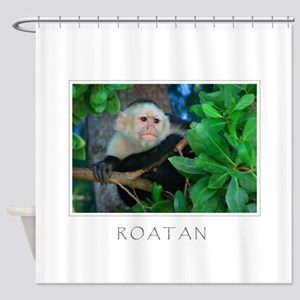Monkey_roatan Shower Curtain