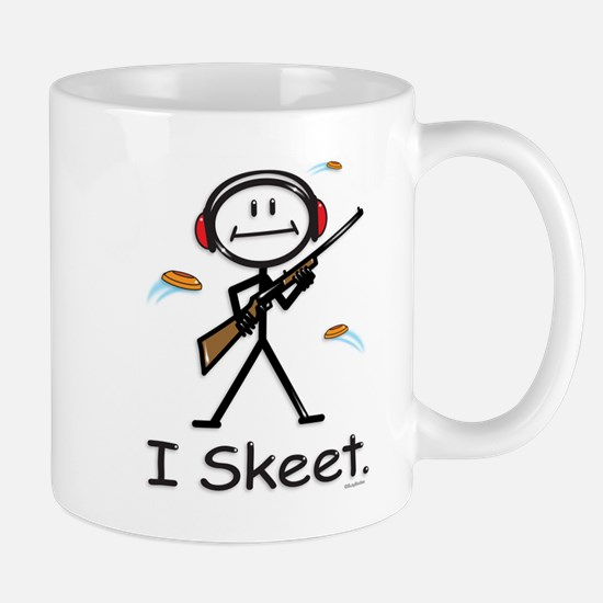 Skeet Shooting Stick Figure Mug