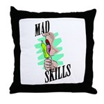 Mad Skills Throw Pillow