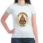 USS MOOSBRUGGER Jr. Ringer T-Shirt