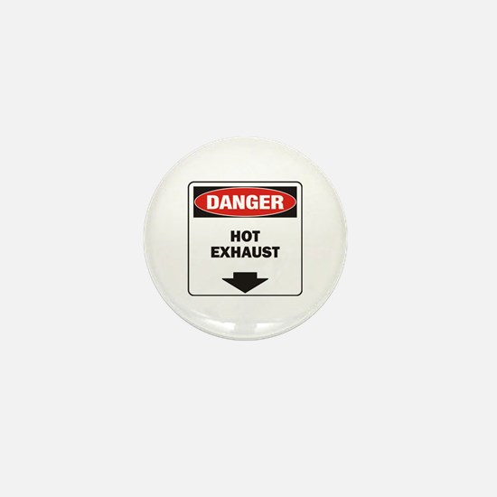 Danger Exhaust Mini Button