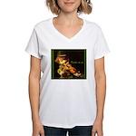 The Irish Fiddler Women's V-Neck T-Shirt