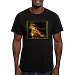 The Irish Fiddler Men's Fitted T-Shirt (dark)
