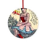 Tattooed Lady Aimee Vintage Advertising Print Roun