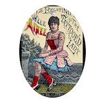 Tattooed Lady Aimee Vintage Advertising Print Oval