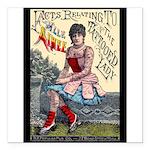 Tattooed Lady Aimee Vintage Advertising Print Squa