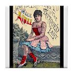Tattooed Lady Aimee Vintage Advertising Print Tile
