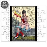 Tattooed Lady Aimee Vintage Advertising Print Puzz