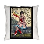Tattooed Lady Aimee Vintage Everyday Pillow