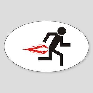 Gas Man Oval Sticker