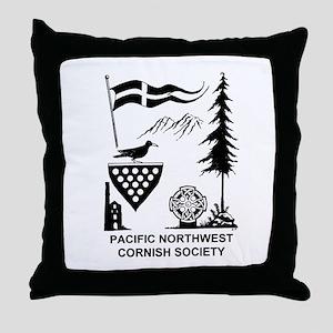 Cornish Society Throw Pillow