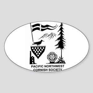 Cornish Society Oval Sticker