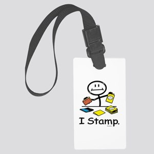Stamping Stick Figure Large Luggage Tag