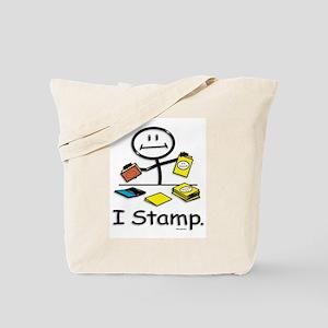 Stamping Stick Figure Tote Bag