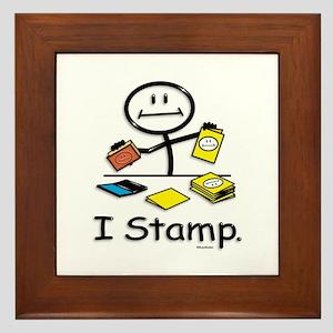 Stamping Stick Figure Framed Tile